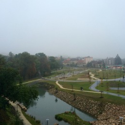 A park near our apartment- look at all the fog...