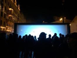 One of the light shows from the famous Signal Festival this past weekend (we honestly hadn't heard of it before).