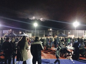 Food and Fireworks at our school, fundraising for families in Cambodia!